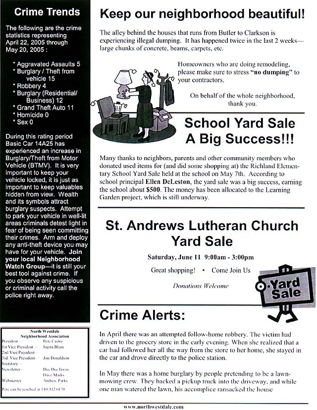 March 2003 newsletter