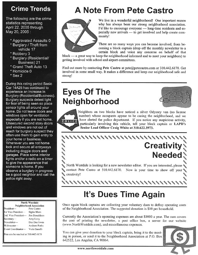 September 2005 NWNA newsletter