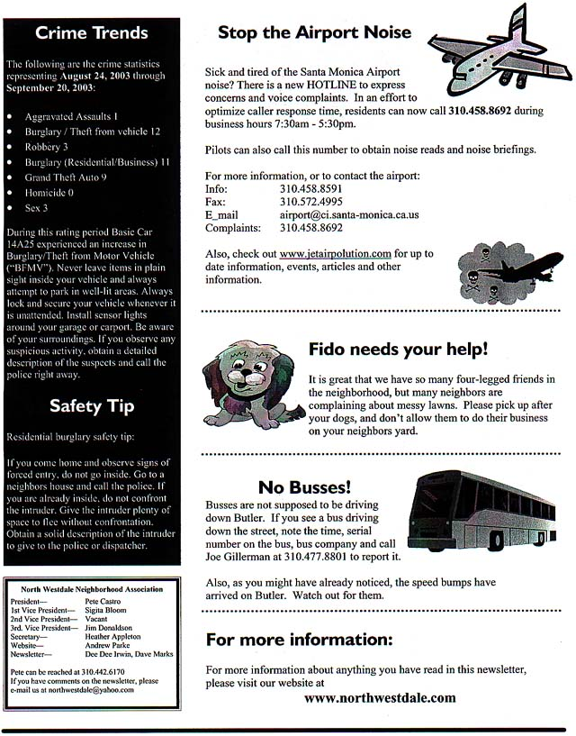 NWNA October 2003 Newsletter -P2