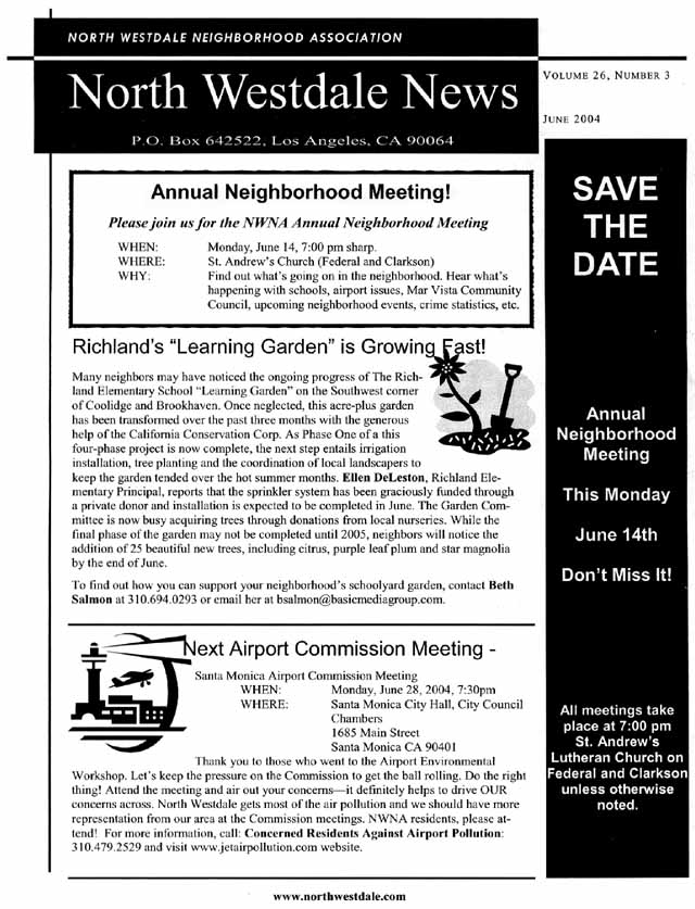 June 2004 NWNA Newsletter - Page 1